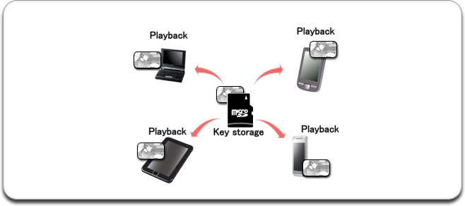 Key storage dongle